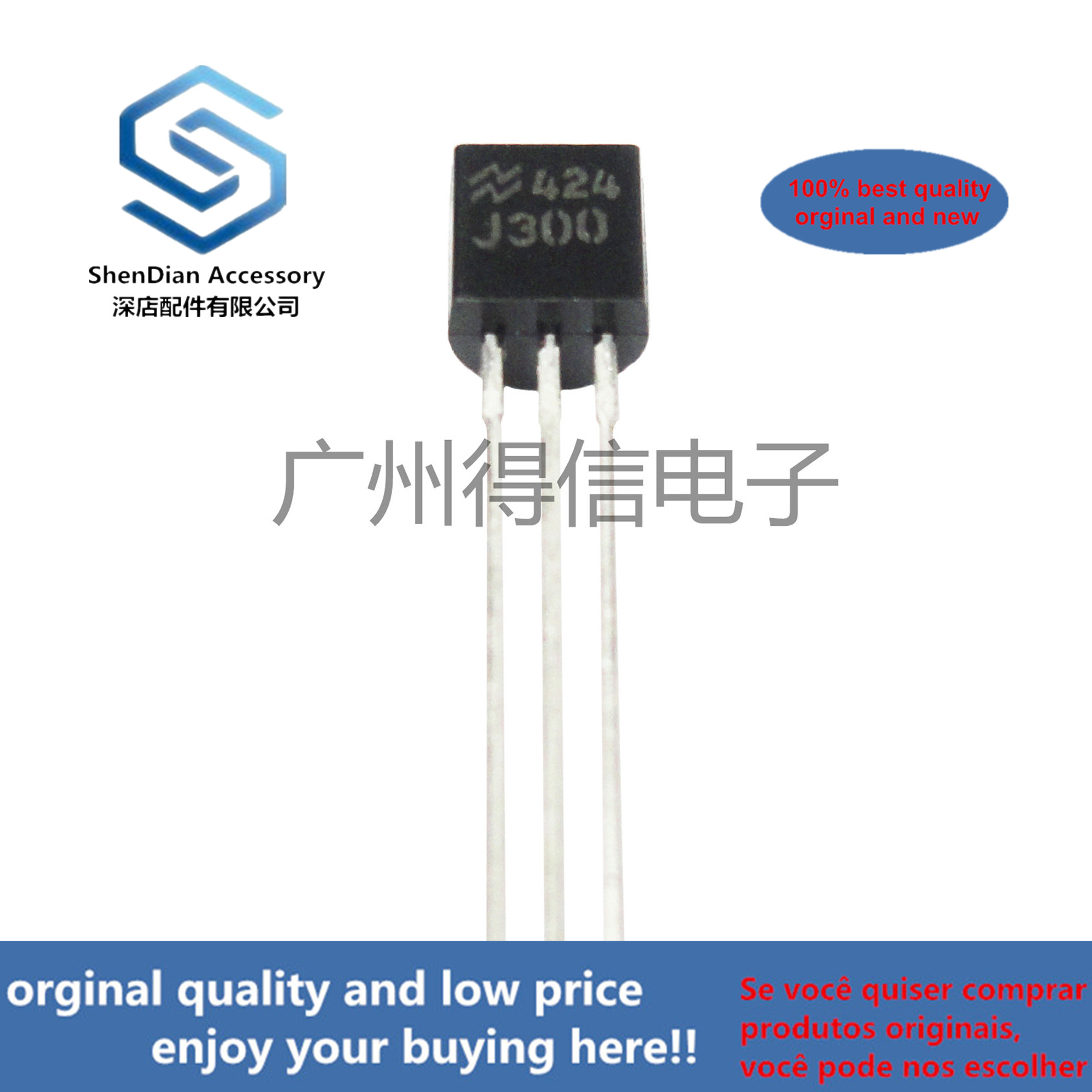 10pcs 100% New And Orginal J300 TO-92 SFET RF,VHF, UHF, Amplitiers  In Stock