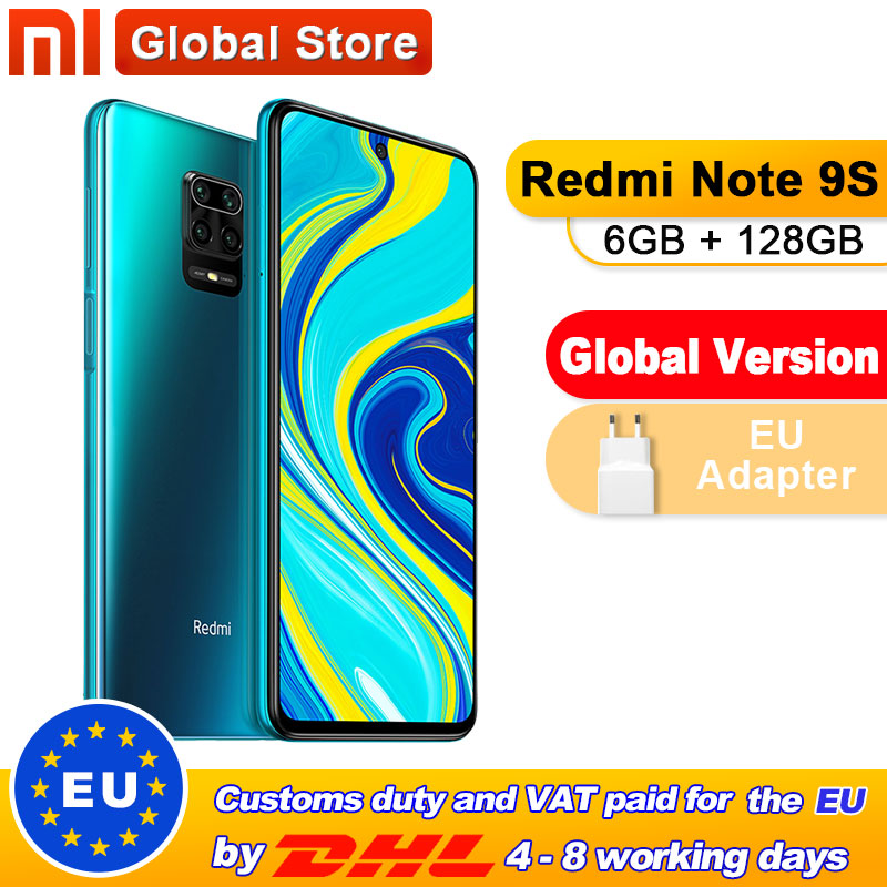 Global Version Xiaomi Redmi Note 9S 6GB 128GB Smartphone Snapdragon 720G Octa core 5020 mAh 48MP Quad Camera Note 9 S(China)