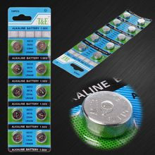 10Pcs AG13 A76 LR44 357A S76E G13 Taste Münze Geformt Zelle Batterie 1,55 V Alkaline Knopf Batterien
