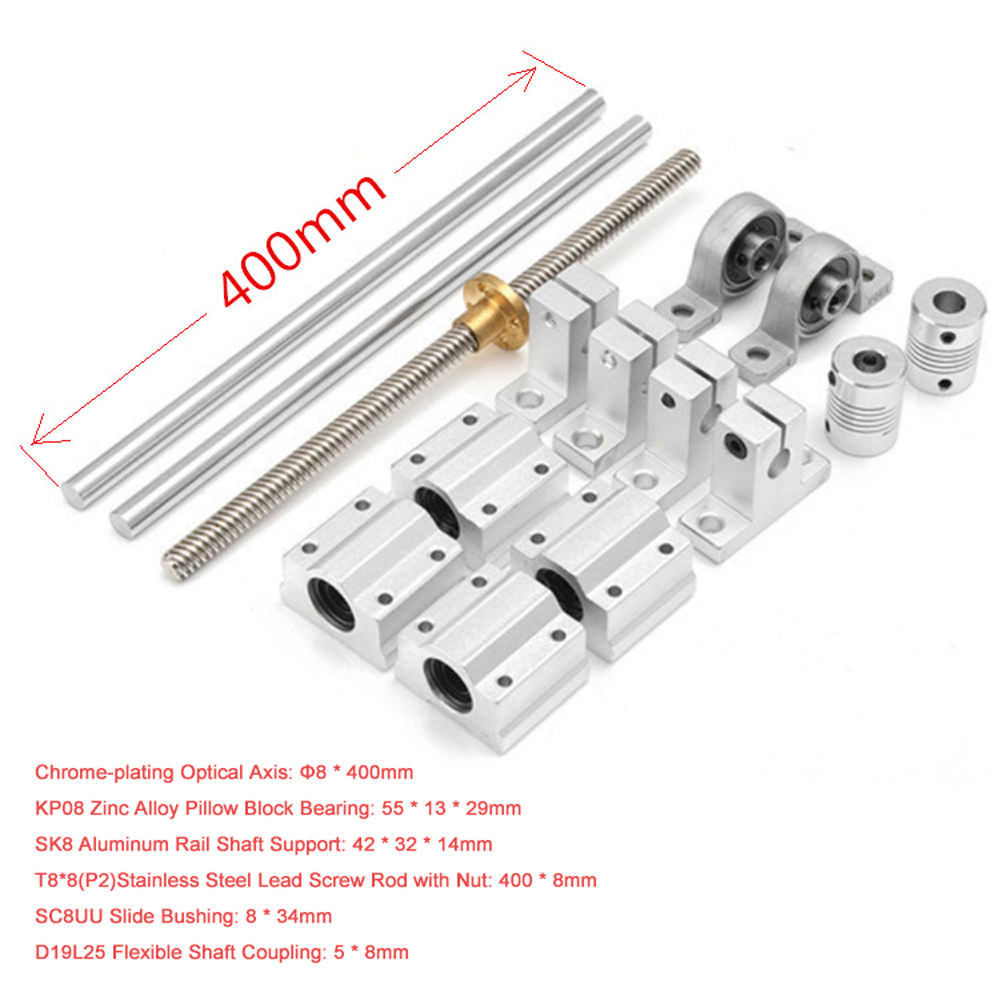 OD 32mm Chrome-plating Cylinder Liner Rail Linear Shaft Optical Axis Rod