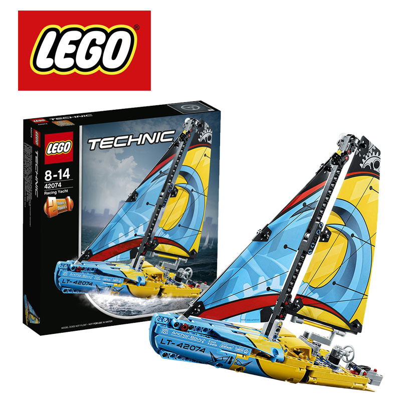 <font><b>LEGO</b></font> Technic Racing Yacht <font><b>42074</b></font> Building Kit (330 Pieces) 2 Models in One <font><b>Lego</b></font> Ninjago Duplo Building Blocks DIY Educational Toy image