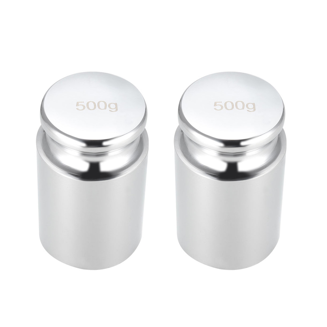 Uxcell 2pcs Gram Calibration Weight 500g M2 Precision Chrome Plated Steel For Digital Pocket Scale And Jewelry Carat Scale