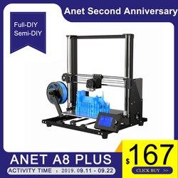 Neue Anet A8 plus Upgrade 3D Drucker Kit Plus Größe 300*300*350mm Hohe Präzision Metall Desktop 3D Drucker DIY Impresora 3D