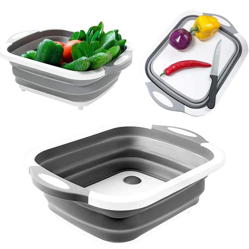 Foldable Collapsible Bowl Folding Storage Bucket Handy Shopping Fruit Basket