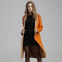 casaco feminino Women Autumn Winter Slim Wool Maxi Coat Female Long SLeeve Windbreaker Outwear manteau femme