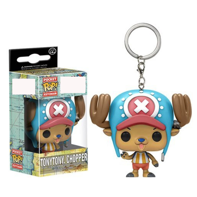 Funko Pop Pocket One Piece Tonytony Chopper Keychain Japan Cartoon Anime Doctor Action Figures Toys With Retail Box
