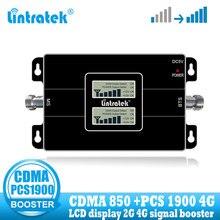 Lintratek 3G CDMA 850 PCS 1900 ripetitore di segnale Mobile Booster PCS 1900MHZ amplificatore di segnale cellulare a doppia banda 3G 4G 850 rete