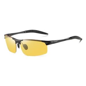 Image 2 - فوتوكروميك النظارات الشمسية الرجال الاستقطاب UV400 مكبرة رجل نظارات شمسية القيادة خمر حملق gafas دي سول 2020 مع صندوق Sunglasses Men Polarized