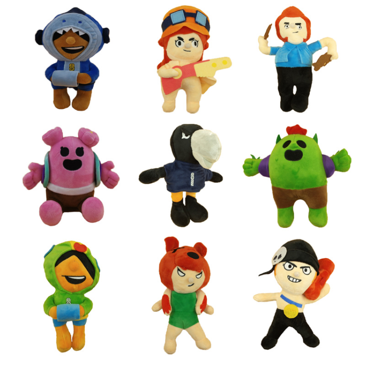 Brawl Star Wars Hero Action Figure Model Toys Brawl Game Cartoon Plush Kids Toy Model Doll Collection Gift For Boy Girl