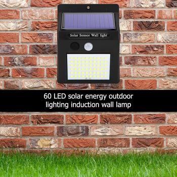 46/60/70/120 LED Solar Light Lamp PIR Motion Sensor Outdoor Garden Light Decoration Pathway Yard Security Solar Lamps image