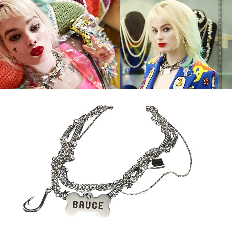 Harley Quinn Birds Of Prey Bruce Necklace Choker Cosplay Props Sexy Women Bar Birthday Bachelor Party Necklaces Costume Props Aliexpress