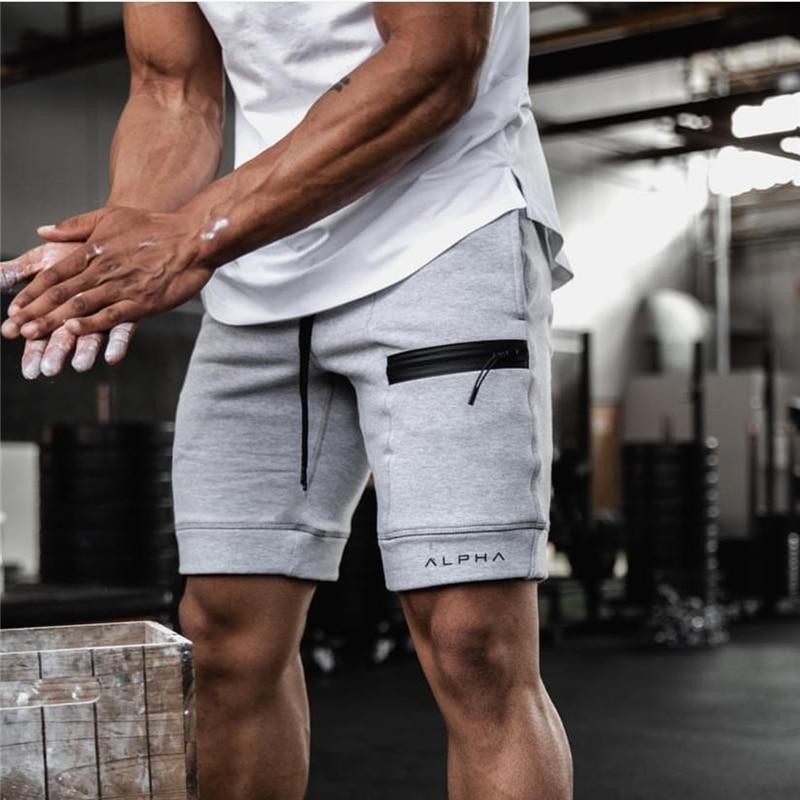 2020 Summer Running Shorts Men Fitness Gym Sports Shorts Cotton Sport Shorts Workout Jogging Training Exercise Sweatpants