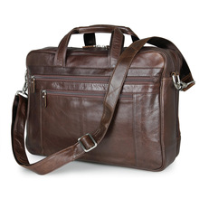 Genuine Leather Business 17 Inch Computer Bag Laptop Briefca