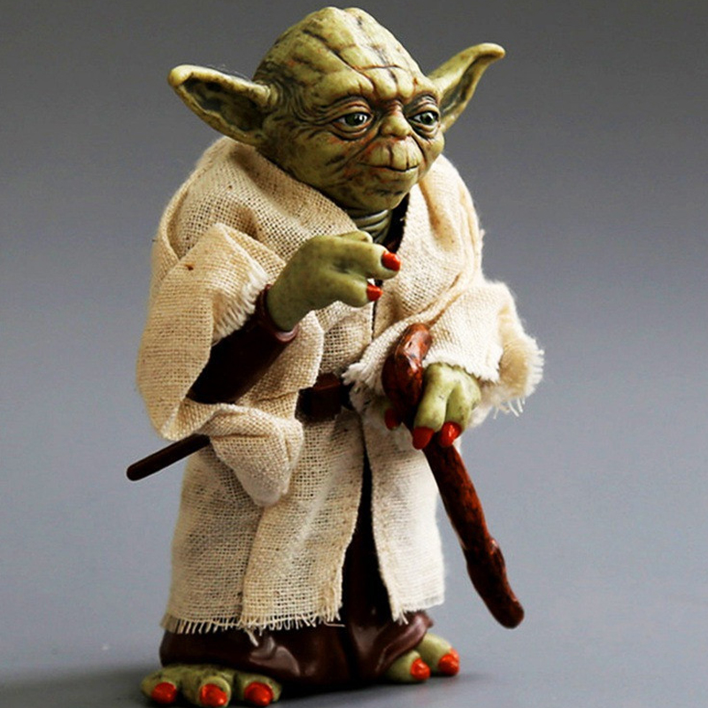 12cm Star Wars Jedi Knight Master Yoda PVC Action Figure Collectible Marvel Star Wars Yoda PVC Model Doll Kids Brinquedos 1