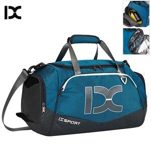 Image 1 - 40L Dry Wet Gym Bags For Fitness Travel Shoulder Bag Handbag Waterproof Sports Shoes Women Men Sac De Sport Training Tas XA473WA