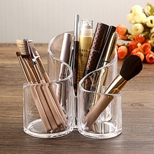 Acrylic Makeup Brush Storage Holder Pen Holder Dressing Table Makeup Brush Box Makeup Cosmetic Organizer 3 size empty portable travel makeup brushes round pen holder cosmetic case pu leather cup brush holder tube storage organizer