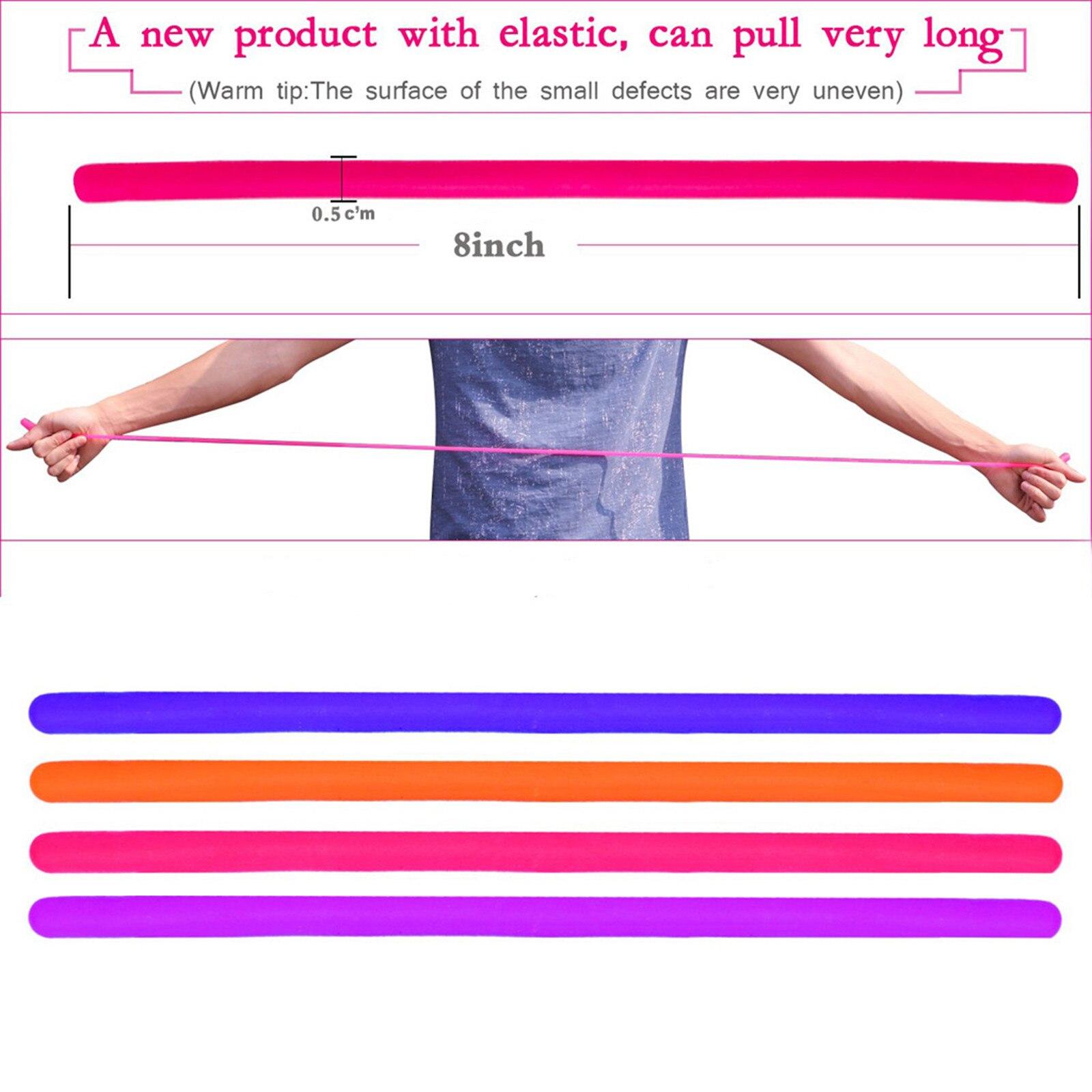 4PCS Monkey Noodles Decompression Toys Sensory Fidget Stretchy String Toy For Kids And img2