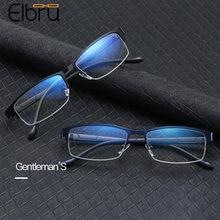 Elbru модные очки в полуоправе с защитой от синего света квадратные