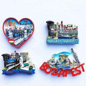 Hungarian Budapest Fridge Magnet Tourist Souvenir 3D Resin Magnetic Refrigerator Paste Decorative Handicraft Magnets Gift Ideas(China)
