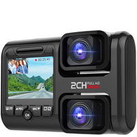 Dual Lens 1080P Full HDDash cam Front and Rear Camera In Car Recorder Vehicle Camera Dash Cam WIFI Equipped with GPS