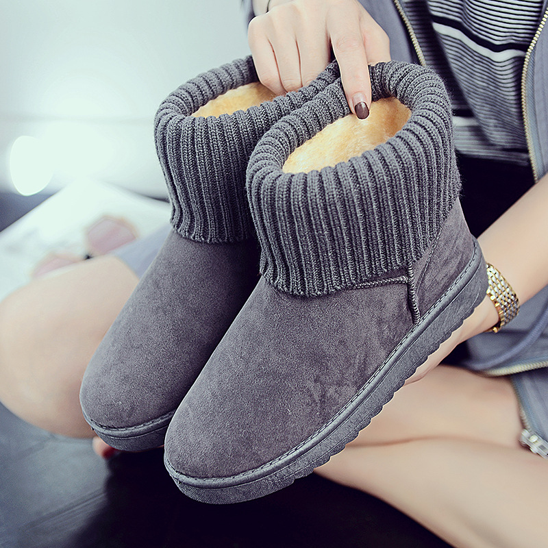 Women's new snow boots winter fashion wild classic women's shoes simple warm non-slip waterproof wool shoes ladies ankle boots 71