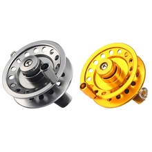 Durable Full Aluminum Gear Ratio 1:1 Fly Fishing Reel 50mm 60mm  V-shape Ice Fishing Wheel Right Handed Ice Fishing Reel Tackle lg85 full metal 3 shaft line wt 5 6 fishing reel gear ratio 1 1 fly reel fly fishing fishing tackle