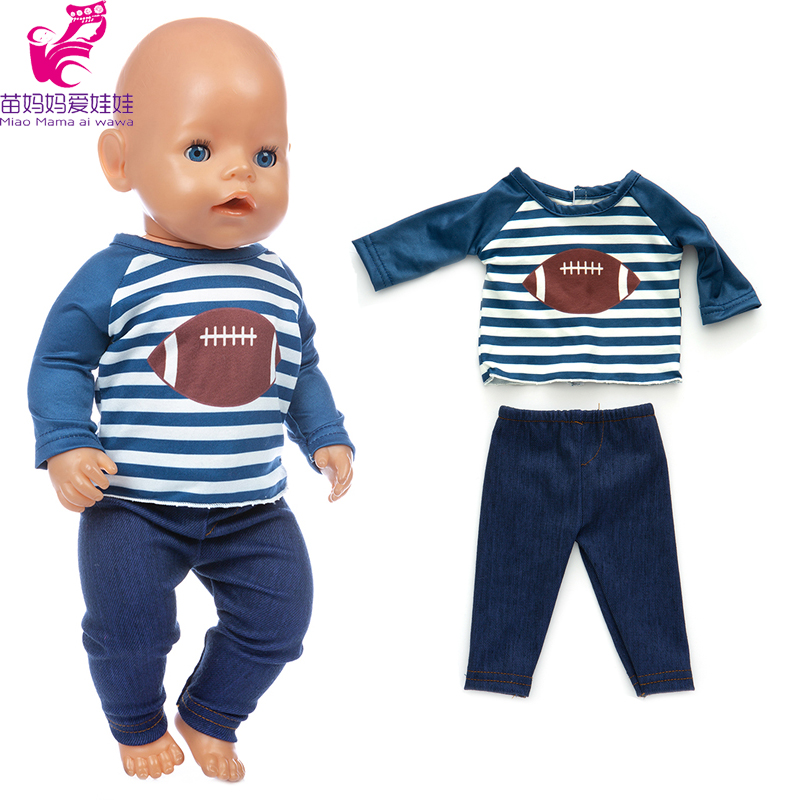 17 Inch Baby Doll Boy Clothes Sport Shirt Pants For 18 Inch American Generation Girl Doll Clothes Lace Dress