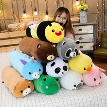 Long Size Bee Pillow Panda Frog Pig Duck Raccoon Brown Bear Pillow Plush Toy Soft Cushion Kawaii Girl Lover Valentines Gift()