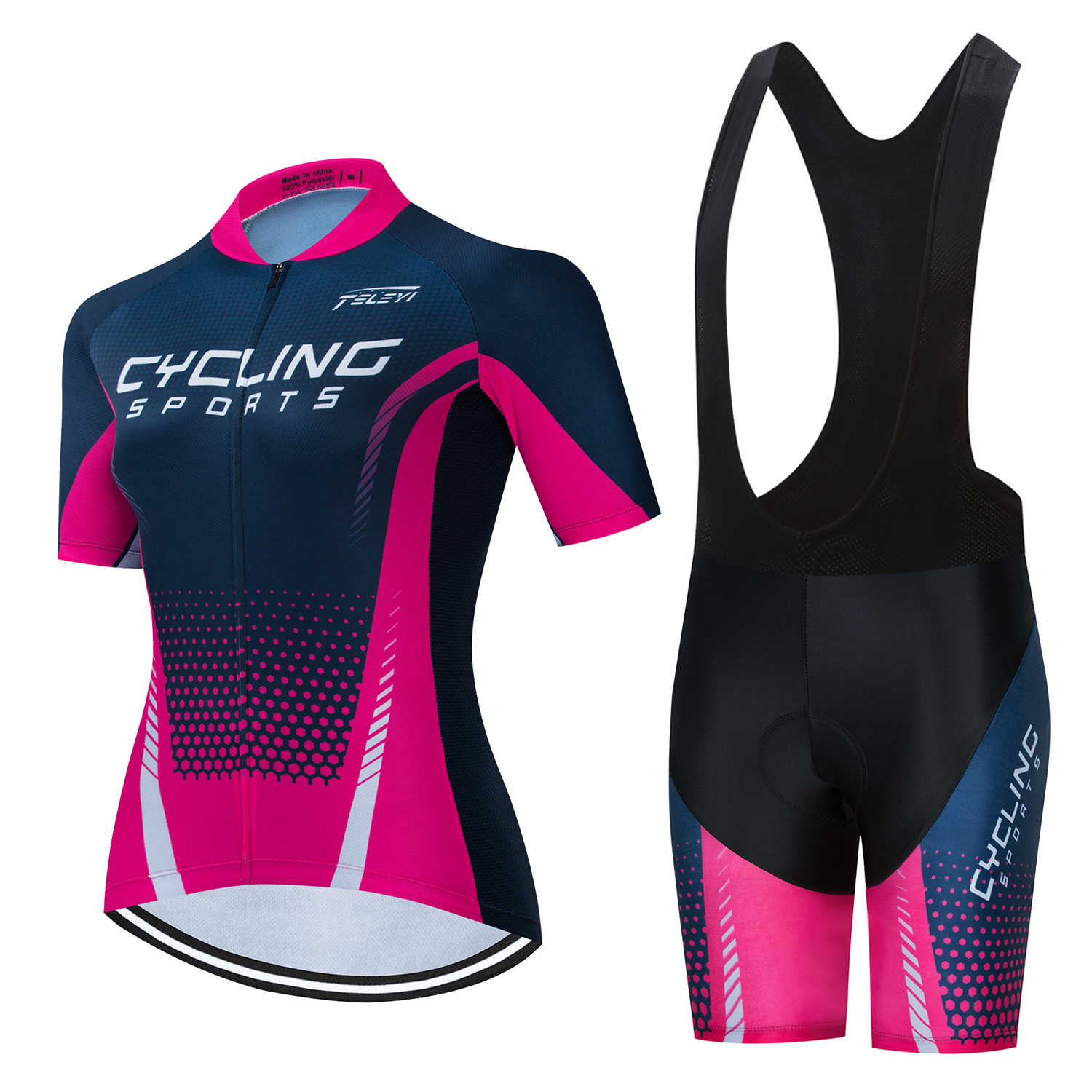 TELEYI Women/'s Cycling Jersey Set Short Sleeve Bike Clothing Bicycle Jersey Set