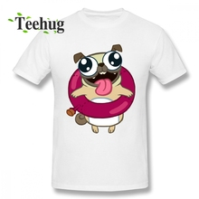 Cool Pug Dog T Shirt 100% Cotton Tees Mans 3D Print Boy New Arrival Unique Round Neck Tee For