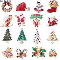 HALLO MANN 29 Arten Trendy Weihnachten Brosche Santa Claus Weihnachten Baum Elch Einfache Cartoon Icon Brosche Mode Urlaub Geschenk