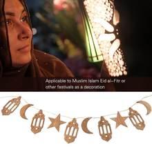 Ahşap ramazan dekorasyon dua asılı kolye bayram hediye dekor EID burcu Al Hajj İslam Adha için ramazan ev plak mübarek Karee m4J6