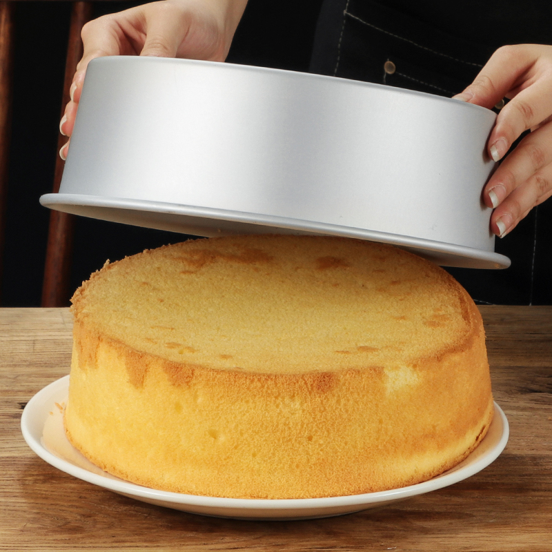4/6/8/10/12inch Round Chiffon Cake Pan Aluminum Alloy Solid Bottom Chiffon Mold Cake Tin Bread Mold DIY Mold Baking Tool