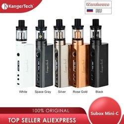 حار Kangertech Subox Mini-C Vape Kit Subox Mini C 50 واط صندوق Mod مع 3 مللي Protank 5 NO 18650 قوالب صندوق بطارية vs السحب 2/Shogun/gen