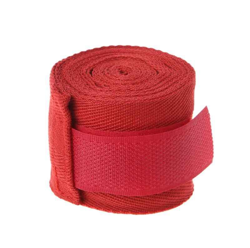 2,5 m de algodón vendaje de muñeca de boxeo vendaje de mano de combate de boxeo protección Kickboxing Muay Thai guantes de entrenamiento Q84C