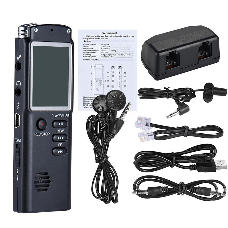 Mini Digital MP3 Music Player Voice Recording Microphone 8GB 16GB 32GB USB Digital Audio Voice Recorder