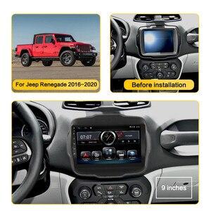 Image 2 - אנדרואיד 10 8.1 2 דין רכב רדיו עבור Jeep Renegade 2016 2017 2018 2019 2020 AHD מצלמת 9 GPS ניווט AM רכב מולטימדיה נגן