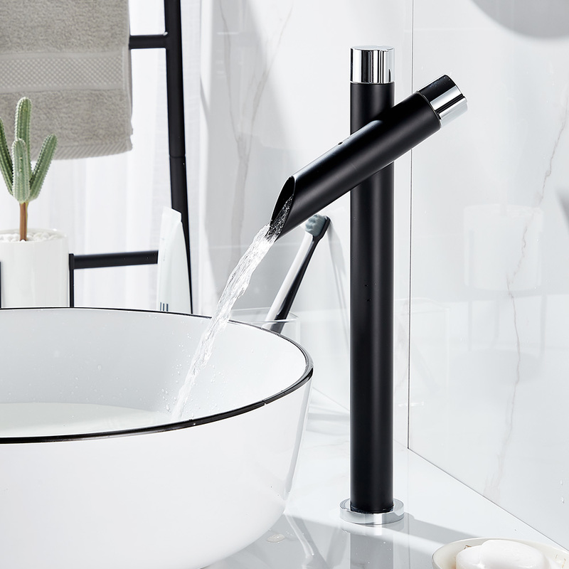 Creative Waterfall Basin Faucet Bathroom Sink Taps Black Basin Mixer Tap Single Lever Fittings For Bath Room Kitchen Faucets Basin Faucets Aliexpress