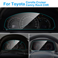 Защитная панель для приборной панели автомобиля для Toyota Corolla Camry Rav4 C HR Cruiser внутренняя защитная пленка из ТПУ автомобильные аксессуары