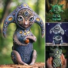 Estatua de resina creativa para jardín, escultura de criatura de Fantasy World, ornamento para interior y exterior, accesorios de decoración