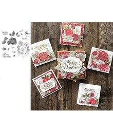 Рождественская Роза, Новое поступление, прозрачный штамп, резиновое уплотнение для рукоделия, скрапбукинг, изготовление открыток, декоративные принадлежности