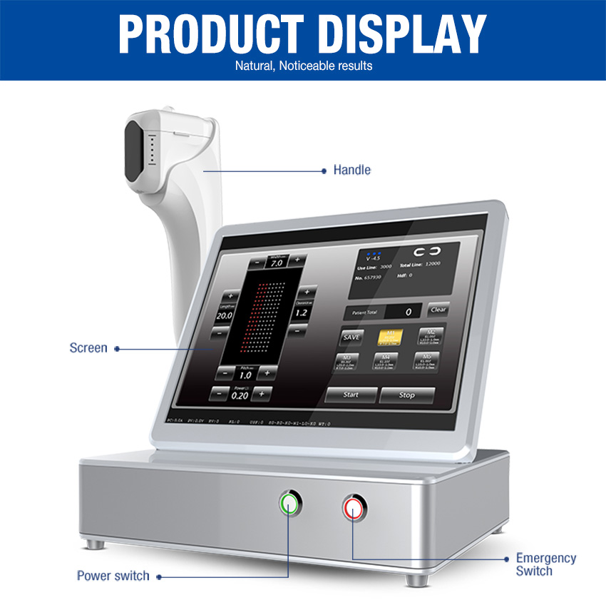 12lines Anti-Wrinkle Device Face Lift Body Slimming Machine For Clinic Use /Intensity Focused Ultrasound 8 Cartridges