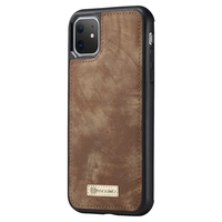 Genuine Leather Business Wallet Case for IPhone 11 Pro Max Removable Flip Phone Holder Case Holster 6.5 Inch