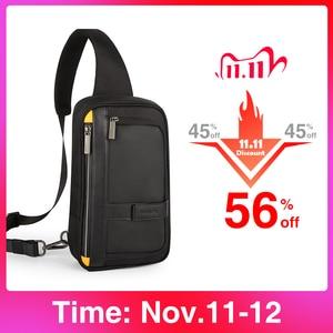 Image 1 - Hanke New Men Crossbody Bags Messenger School Male Sling Chest Bags For Work Water Resistant Travel Cross Waist Shoulder Bag