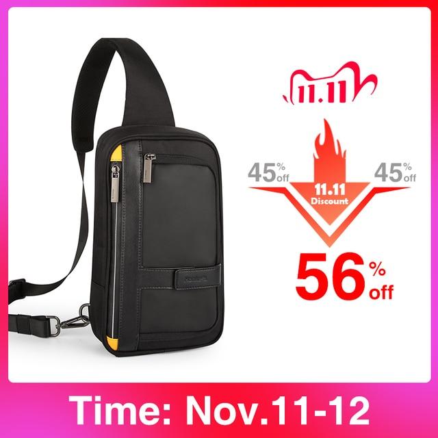 Hanke New Men Crossbody Bags Messenger School Male Sling Chest Bags For Work Water Resistant Travel Cross Waist Shoulder Bag