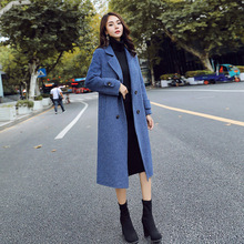 Autumn Winter Korean Woolen Coat Long Women Overcoat Thickened