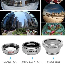 3 In 1 Wide Angle Macro Fisheye Lens Set Mobile Pho