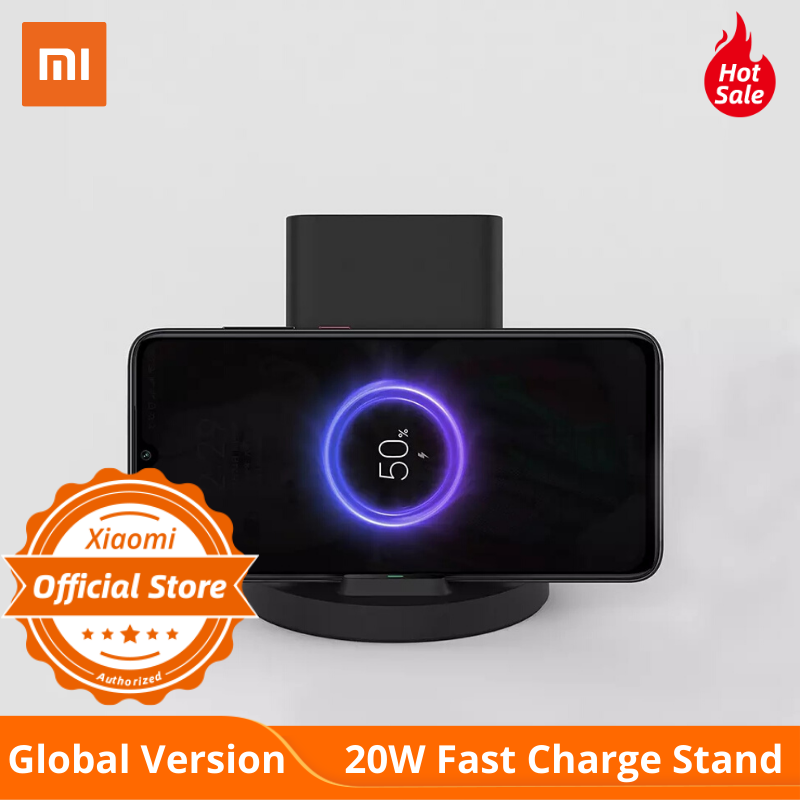 Global Version Xiaomi Mi 20W Wireless Fast Charger Stand For IPhone 11 Samsung S10 Qi Compatible Multiple Safe Vertical Horizon