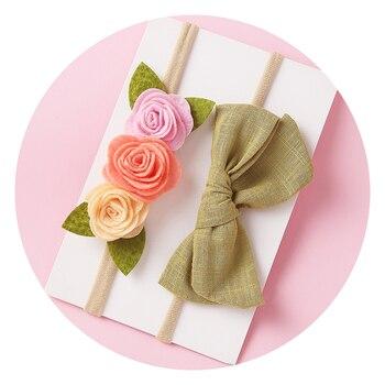 цена на 2020 Special Offer Baby Girls Headbands Flower Nylon Headband For Children Bows Baby Floral Toddler Girl Accessories New