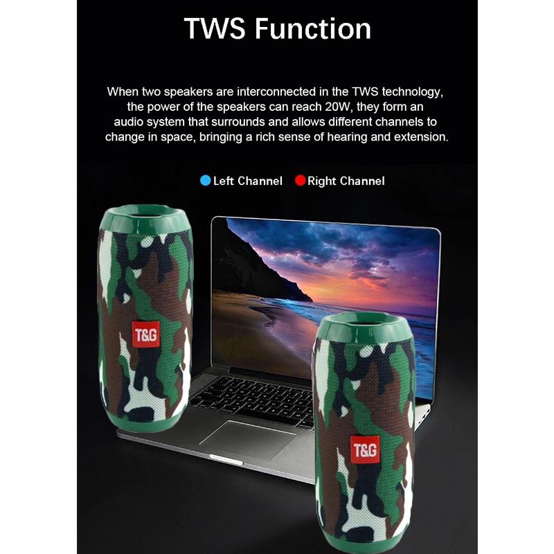 YABA Bluetooth Speaker Portable Wireless Speaker Sound System 3D Stereo Music Surround soundbar TF AUX USB caixa de som 6